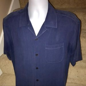 Tommy Bahama Relax silk men's button camp shirt M